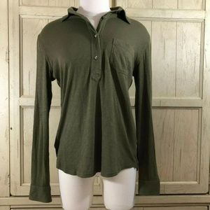 J.Crew Green Long Sleeve Top